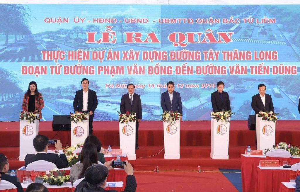 Lễ ra quân xây dựng đường Tây Thăng Long