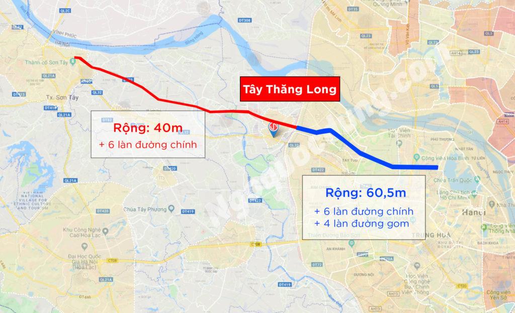 Thông tin trục đường Tây Thăng Long