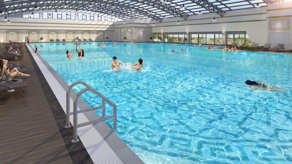 bể bơi vincom smart city