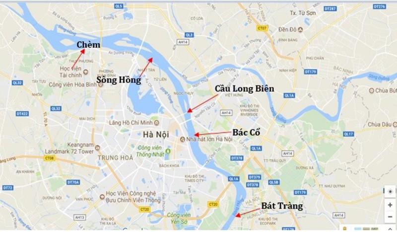 Bản đó quy hoạch thành phố ven sông Hồng